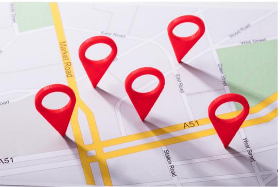 mapa de localização segurança para viajar sozinha