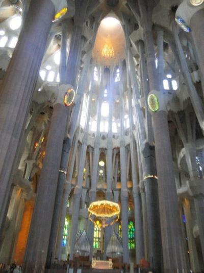 foto interna da sagrada familia barcelona