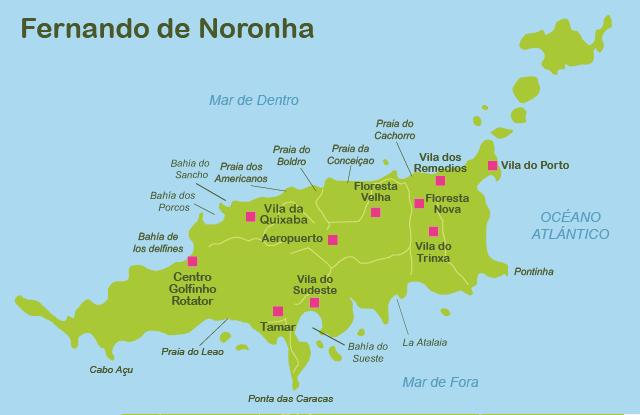 mapa de noronha