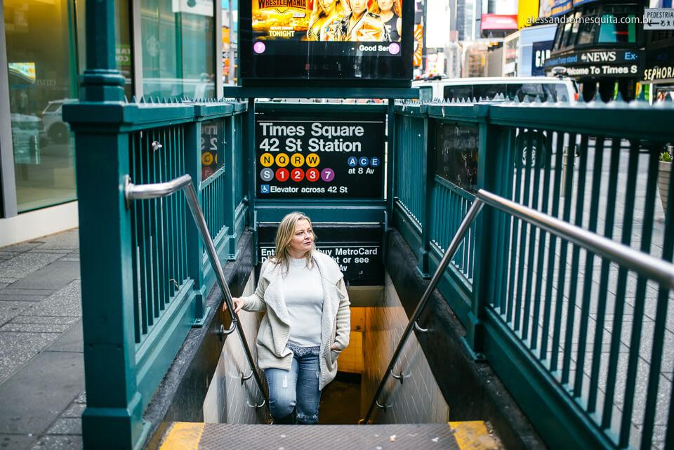 foto metro em nova york